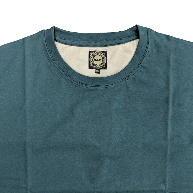 Kam Plain Round Neck T-Shirt - KBS500 - Denim 1