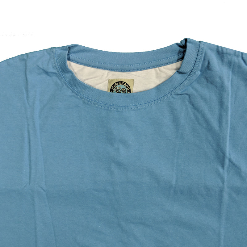 Kam Plain Round Neck T-Shirt - KBS500 - Powder Blue 1