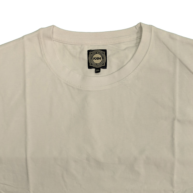 Kam Plain Round Neck T-Shirt - KBS500 - White 1