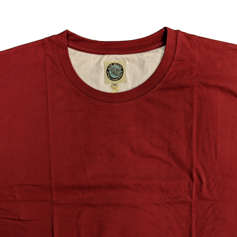 Kam Plain Round Neck T-Shirt - KBS500 - Wine 1