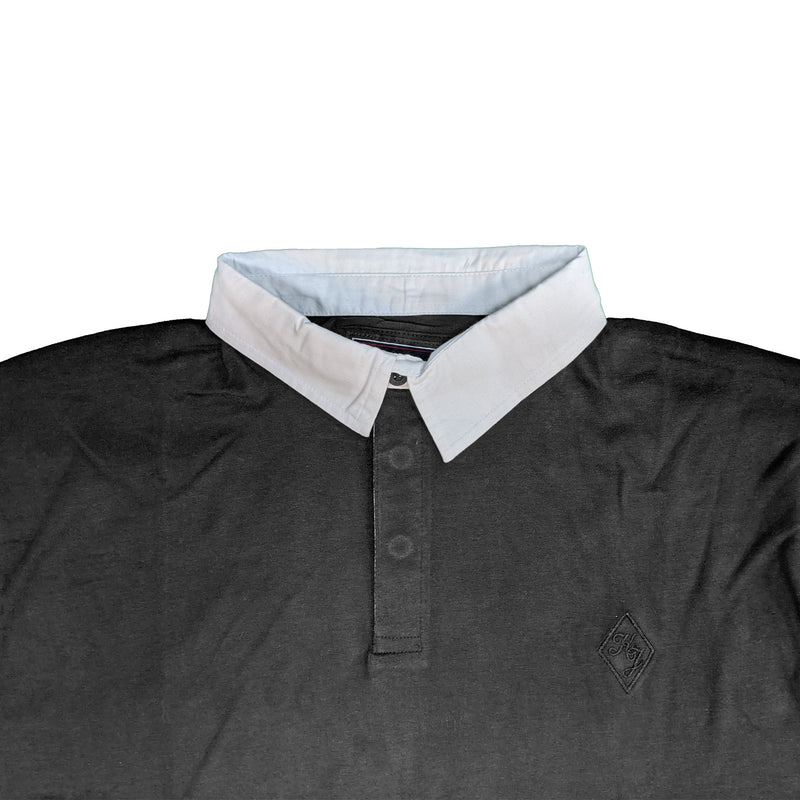 Kam L/S Jersey Rugby Polo - KBS 5426 - Black