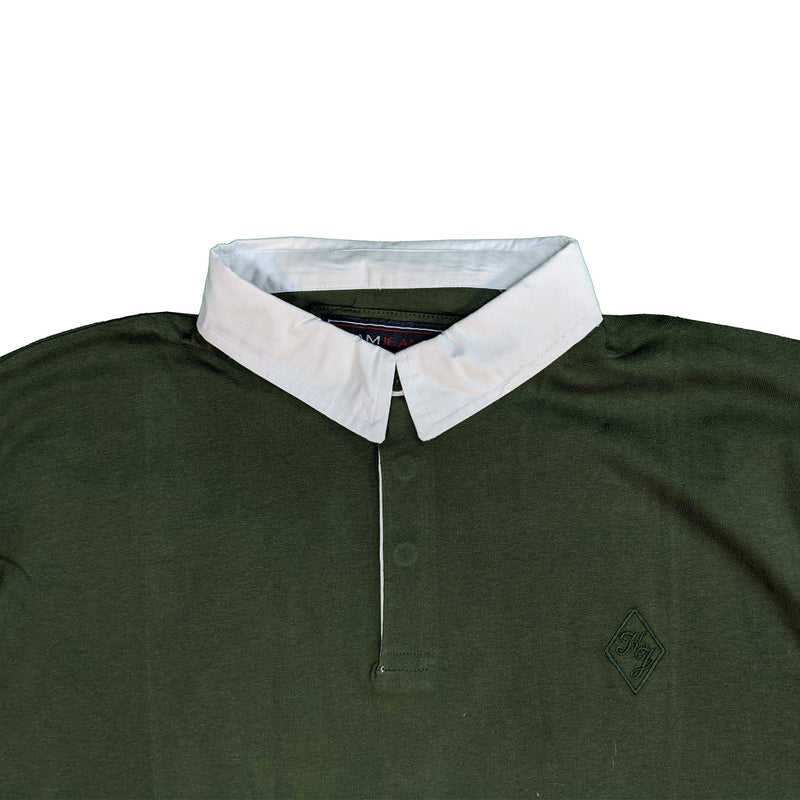 Kam L/S Jersey Rugby Polo - KBS 5426 - Khaki