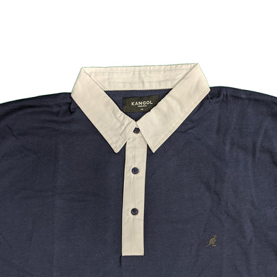 Kangol L/S Rugby Polo - Sven - Navy 2