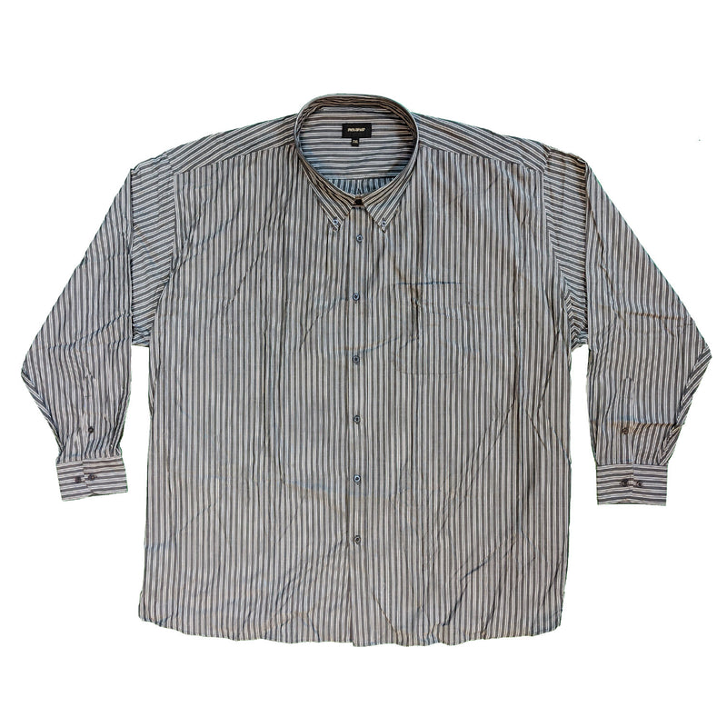 Metaphor L/S Stripe Shirt - 15471 - Grey / Charcoal 1