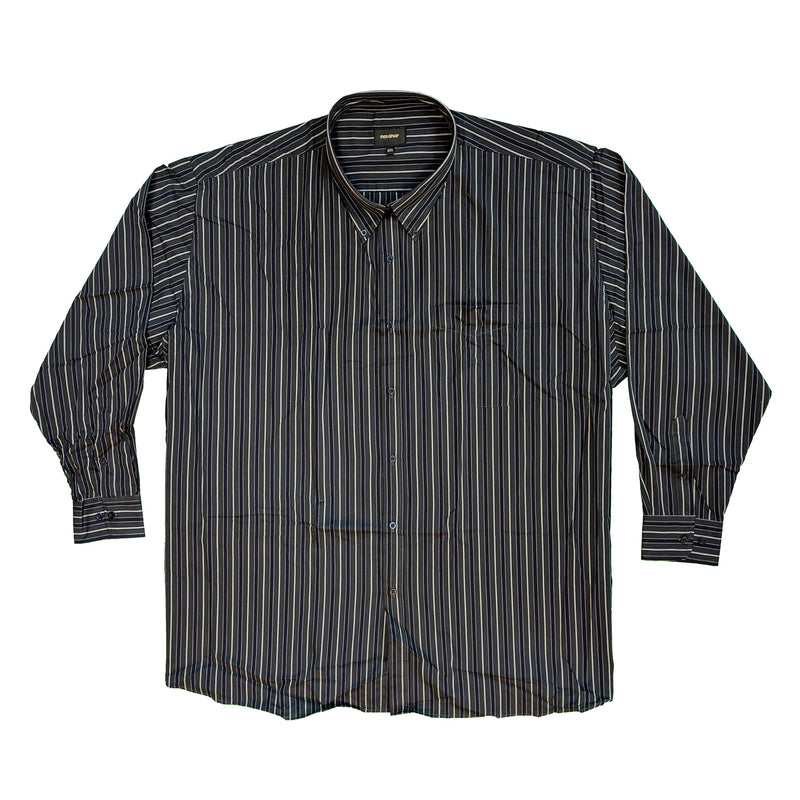 Metaphor L/S Stripe Shirt - 15472 - Purple / Charcoal 1