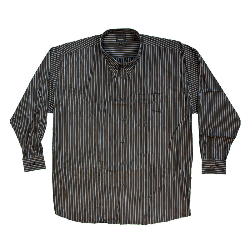 Metaphor L/S Stripe Shirt - 15473 - Brown 1