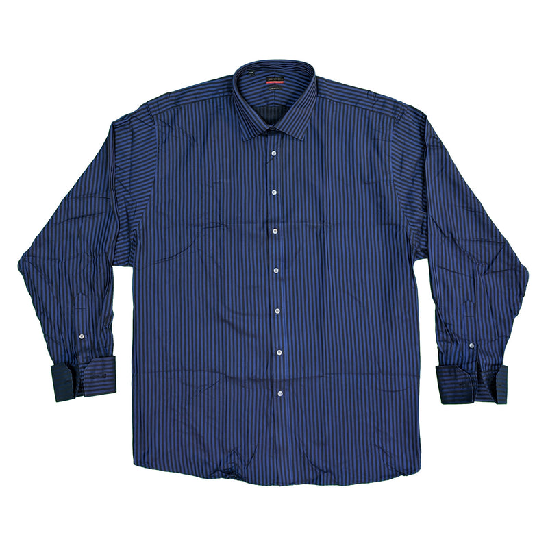 Pierre Cardin L/S Double Cuff Stripe Shirt - 45206400 - Blue 1