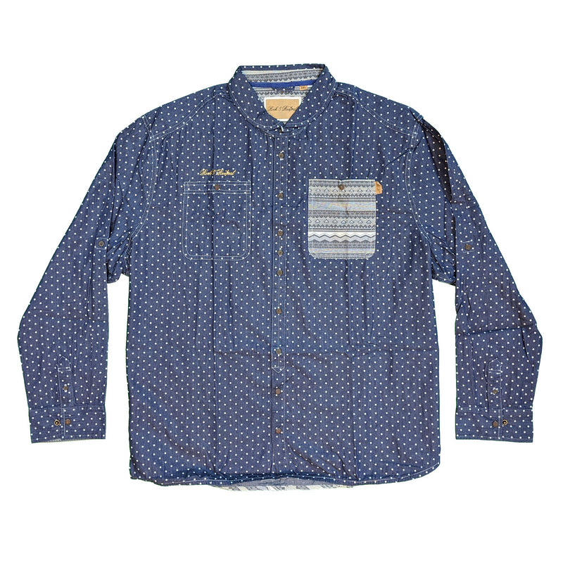 Rock & Revival L/S Shirt - DF212 - Blue 1