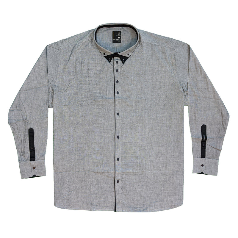 Splitstar L/S Shirt - KS11073 - Denzil - Grey 1
