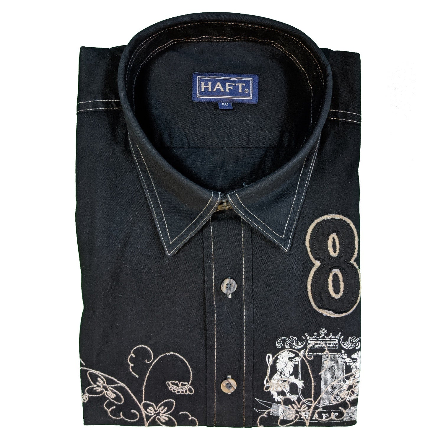 Haft L/S Shirt - Royal - Black 1