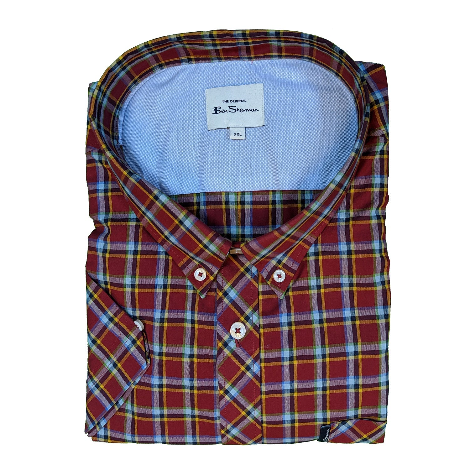 Ben Sherman S/S Shirt - 0059086IL - Red 1
