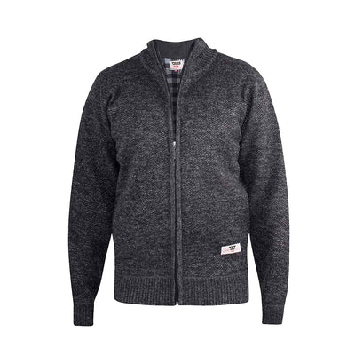 D555 Full Zip Sweater - Sherwood - Black Marl 1
