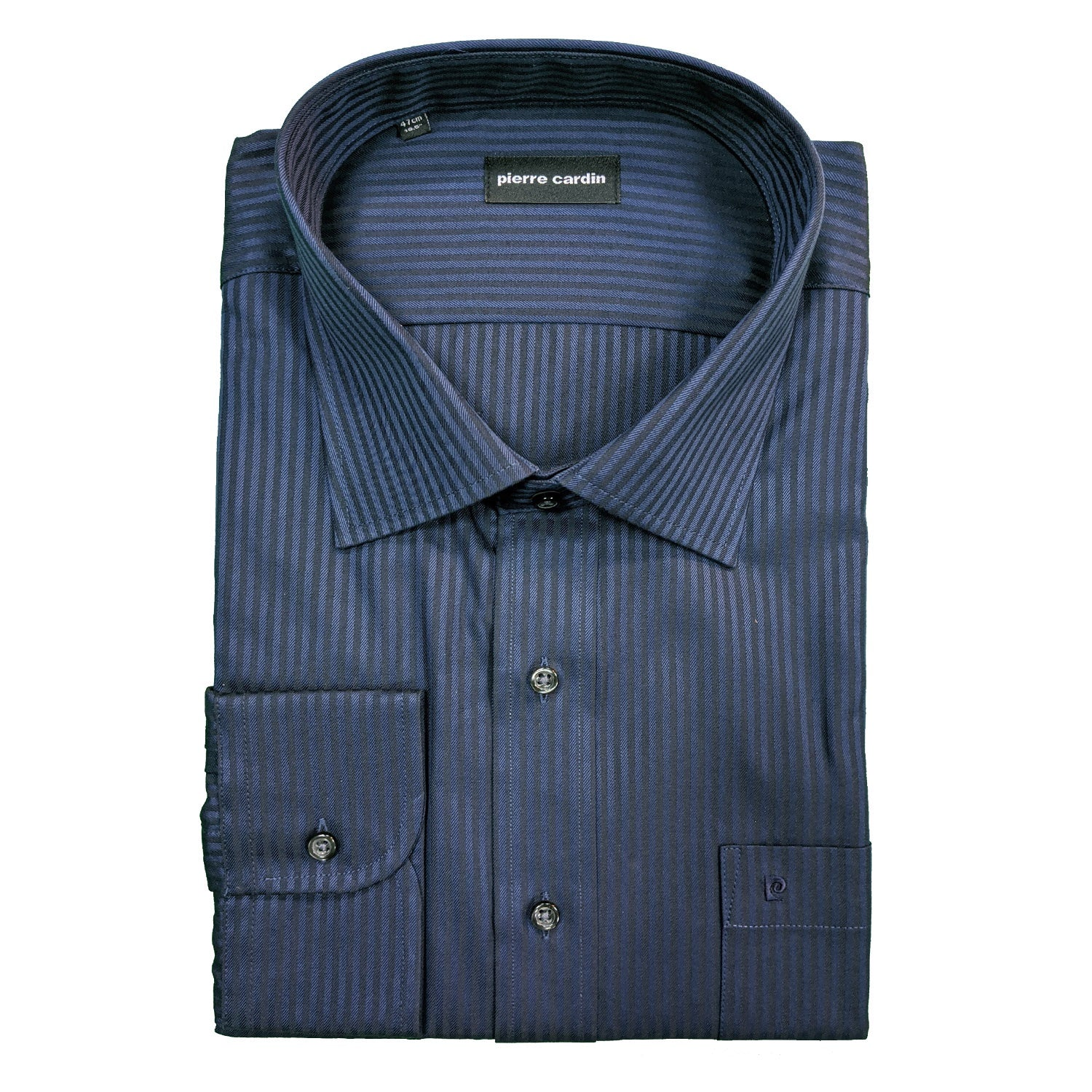Pierre Cardin L/S Stripe Shirt - PC1809 - Navy 1