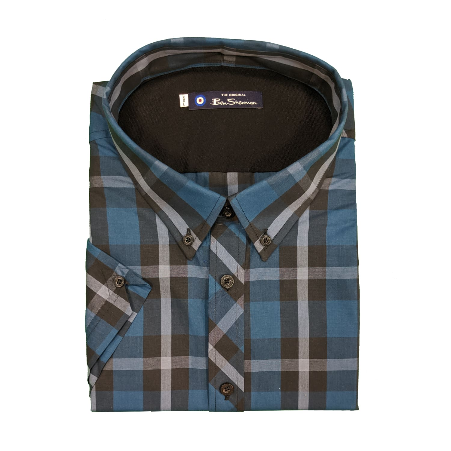 Ben Sherman S/S Shirt - 0059974IL - Lake 1