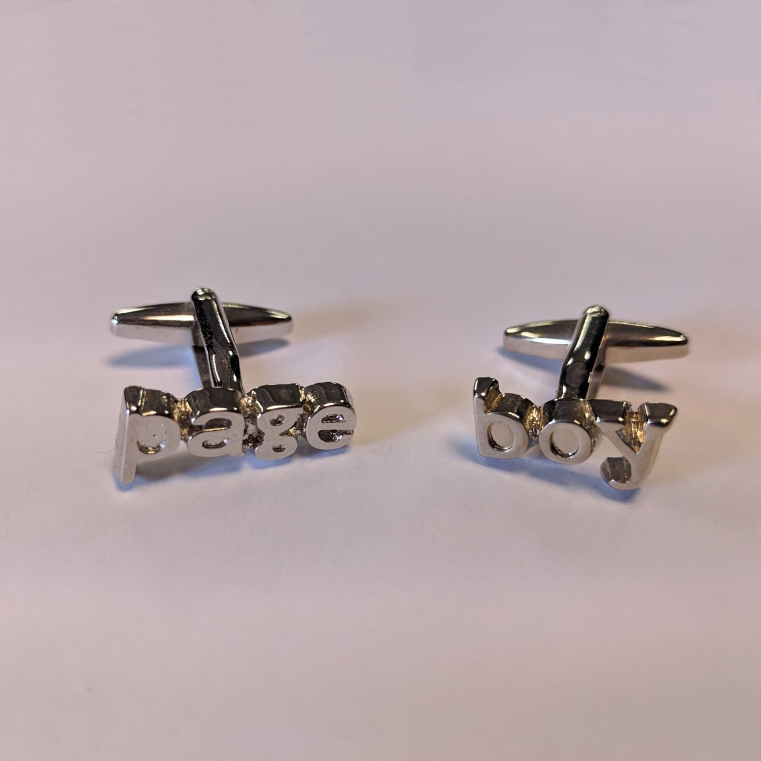 Chrome Cufflinks - Page Boy 1