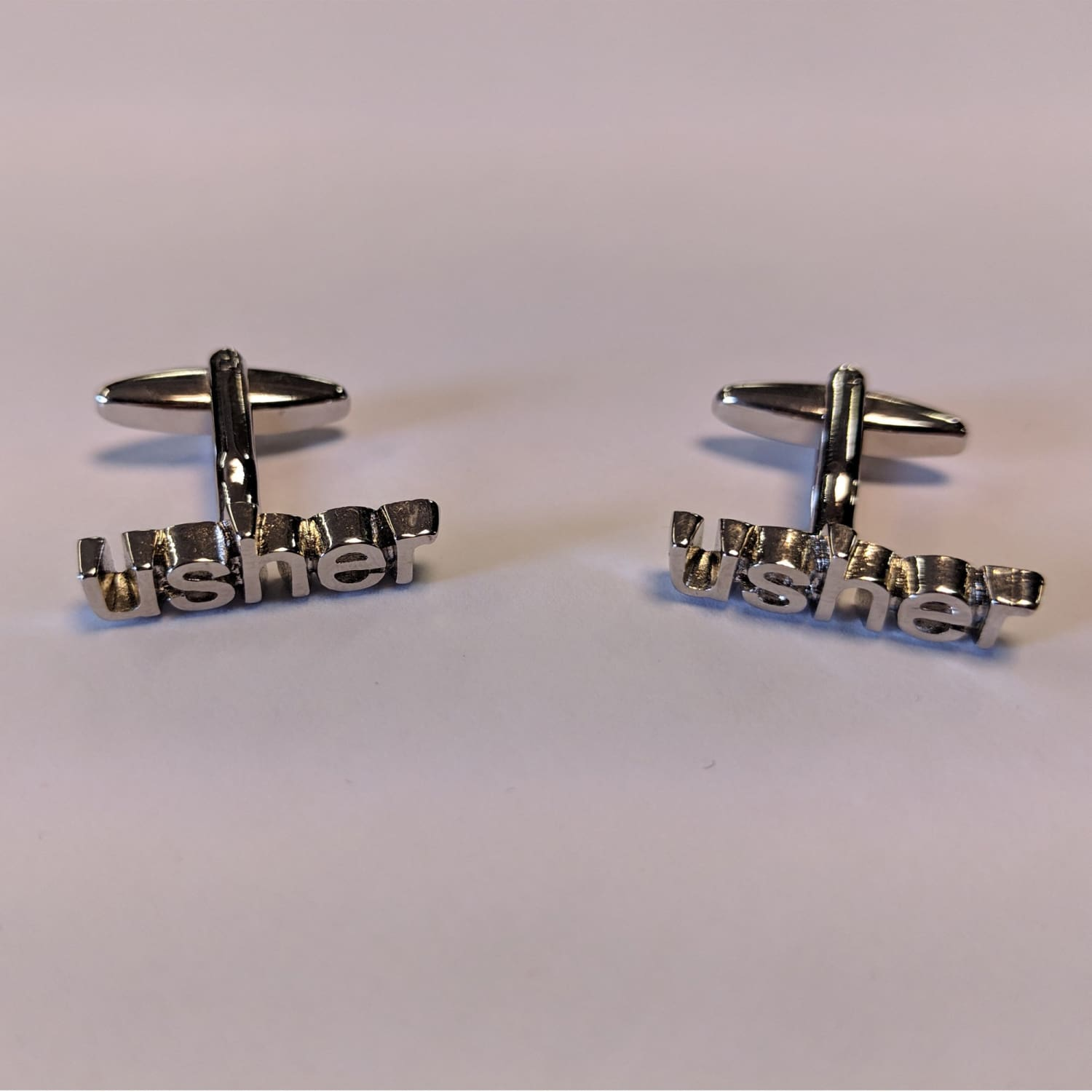 Chrome Cufflinks - Usher 1