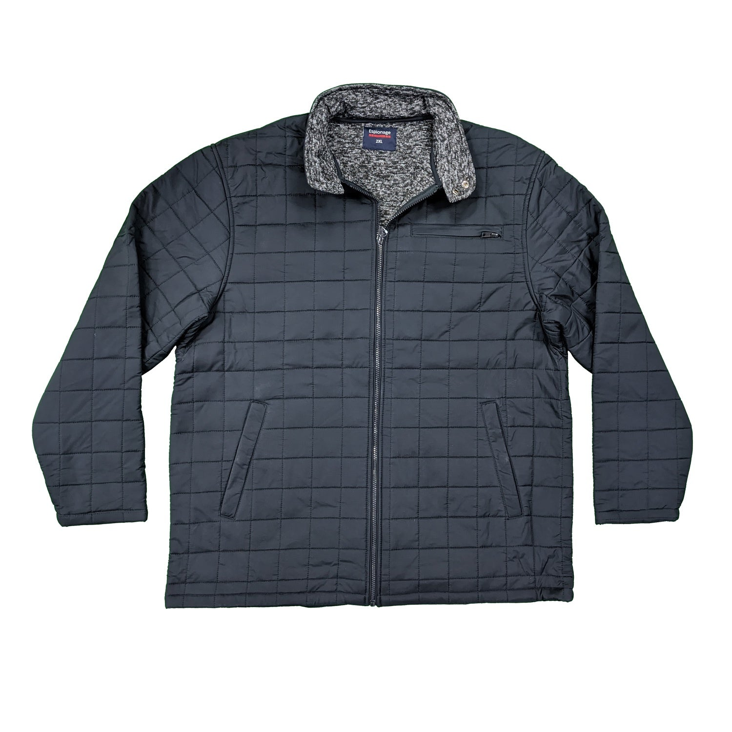 Espionage Quilt Jacket - JT115 - Navy 1