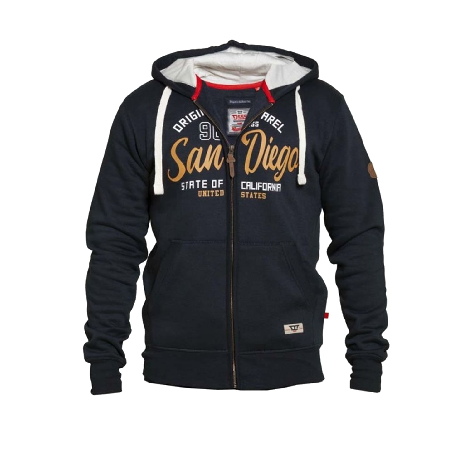 D555 Full Zip Hoody - KS60461 - Stockton - Navy 1
