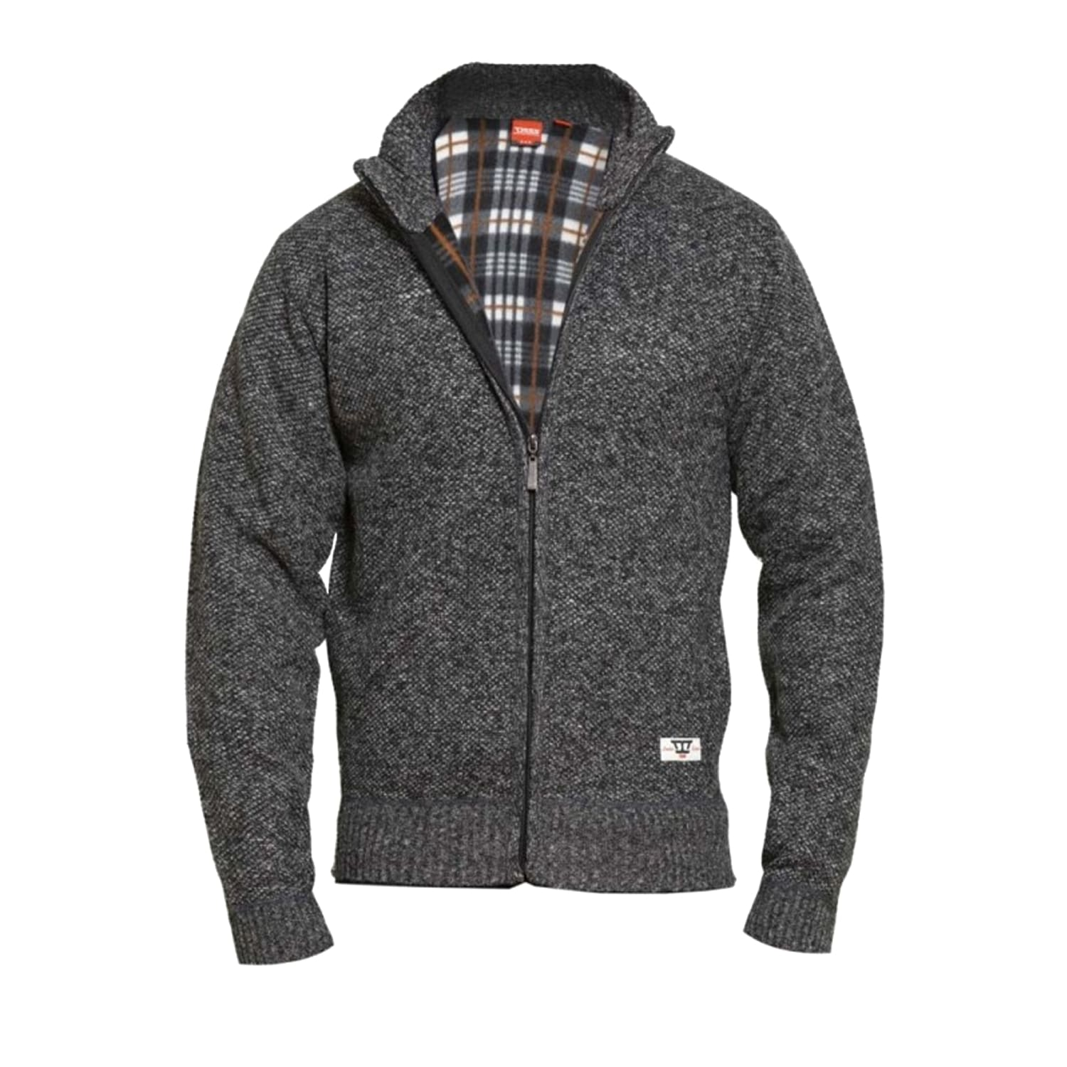 D555 Full Zip Sweater - KS80550 - Braxton - Charcoal Marl 1