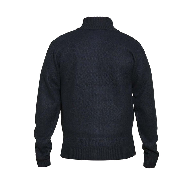 D555 Full Zip Sweater - KS80550 - Braxton - Navy Marl 1