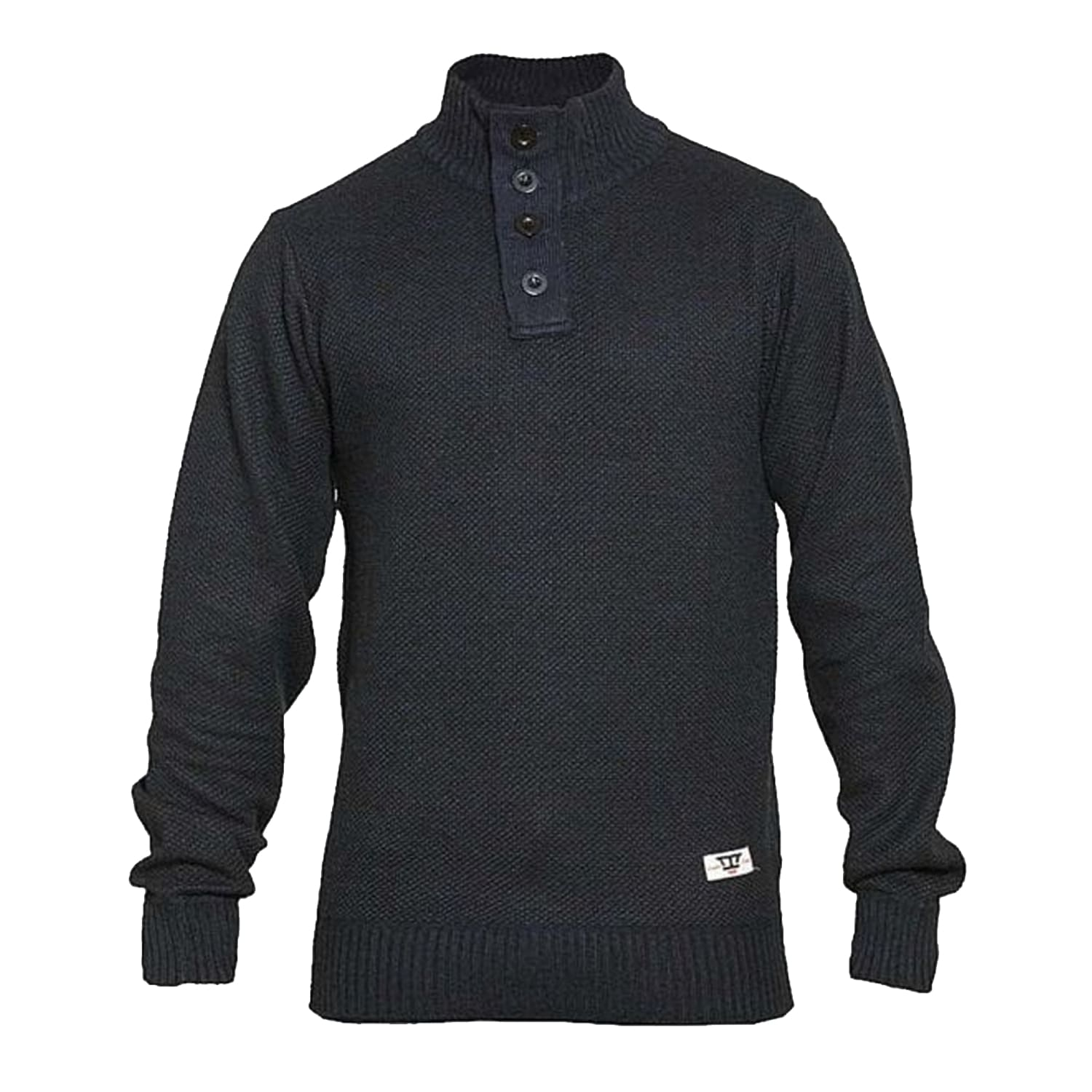 D555 Quarter Button / Zip Sweater - KS80552 - Zane - Navy Marl 1