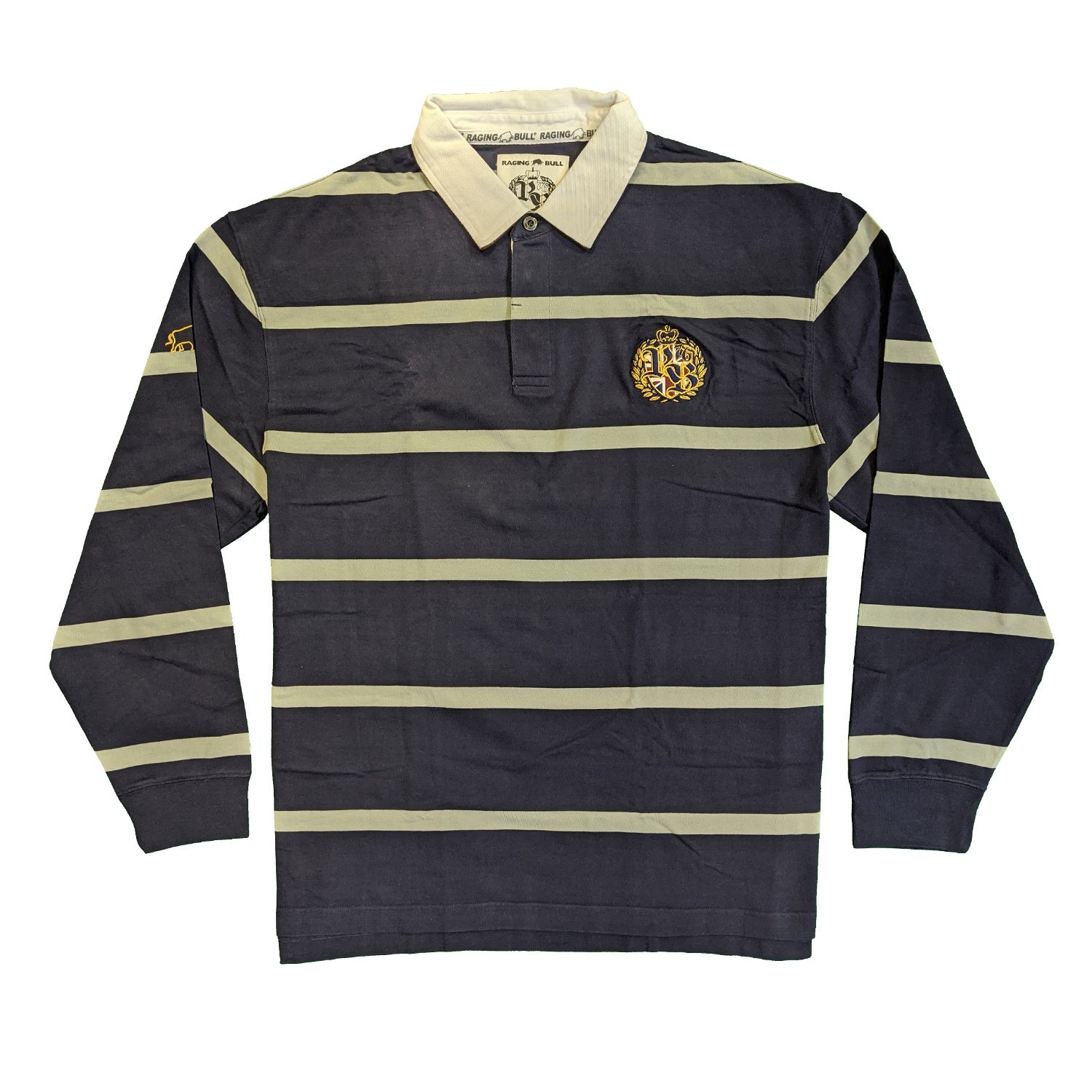Raging Bull L/S Rugby Polo - A1333 - Navy 1