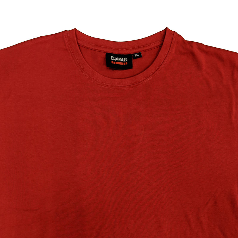 Espionage Plain Round Neck T-Shirt - T015 - Red 1