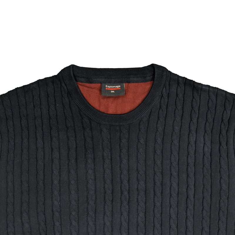 Espionage Cable Pullover - KW057 - Navy 1
