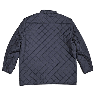 Espionage Diamond Quilt Coat - JT109 - Navy 3