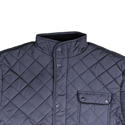 Espionage Diamond Quilt Coat - JT109 - Navy 2