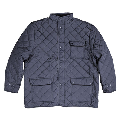 Espionage Diamond Quilt Coat - JT109 - Navy 1