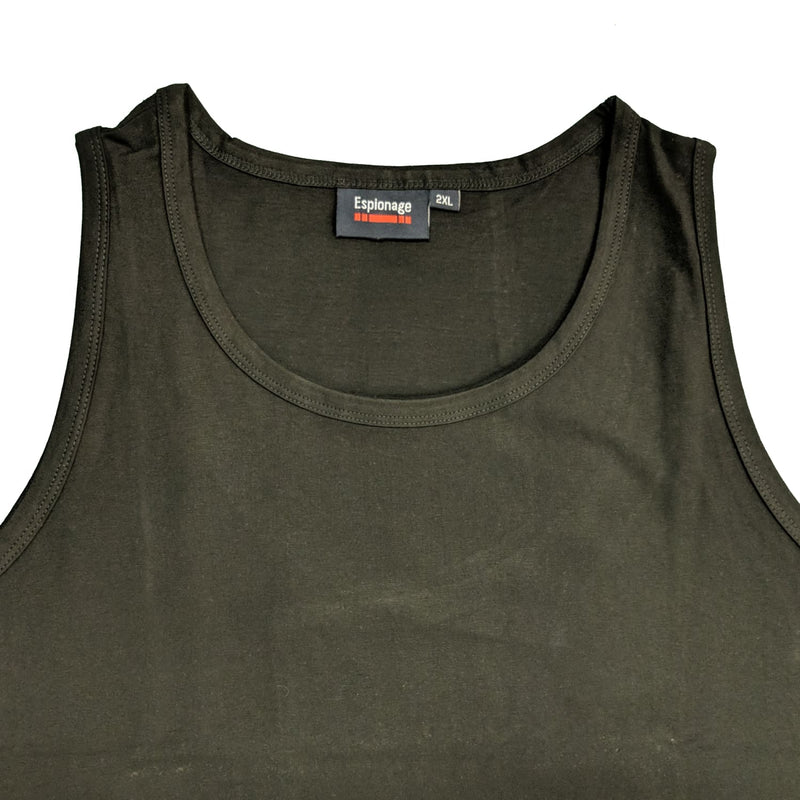 Espionage Plain Vest - T017 - Black 1