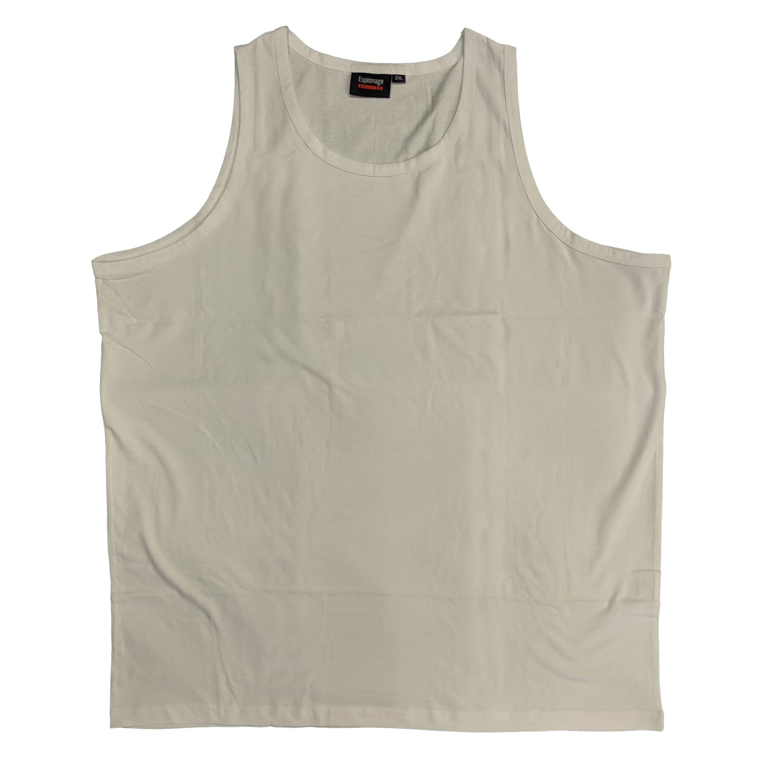 Espionage Plain Vest - T017 - White 1
