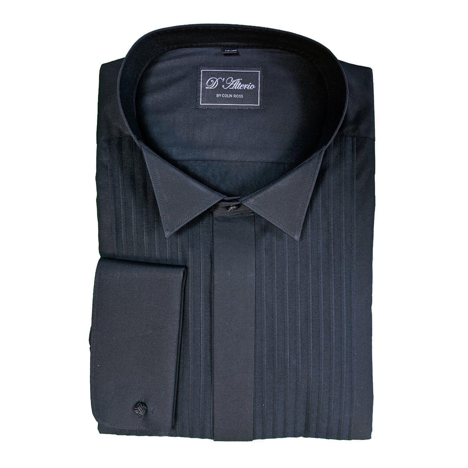 D'Alterio Wing Collar Dress Shirt - 21831 - Black 1