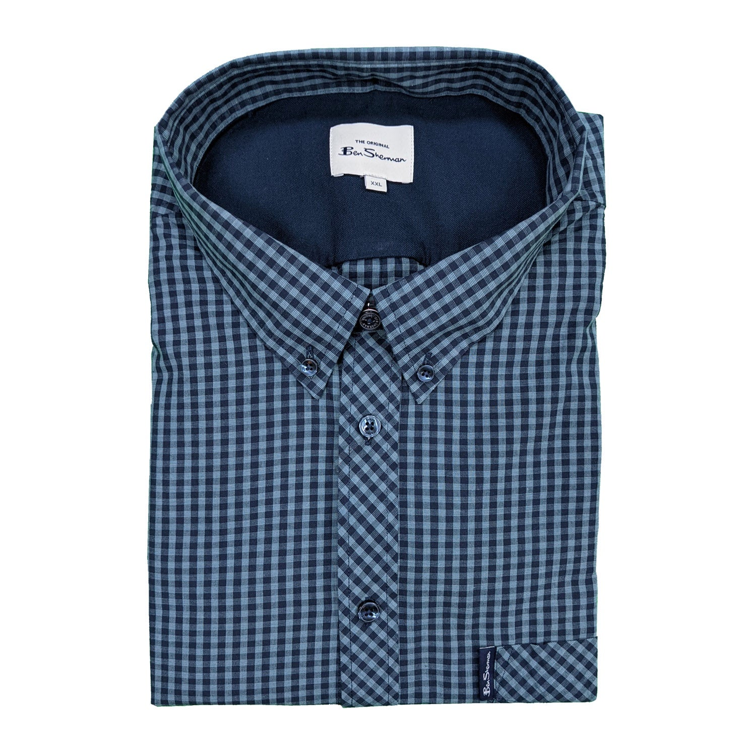 Ben Sherman S/S Shirt - 0059142IL - Sea 1