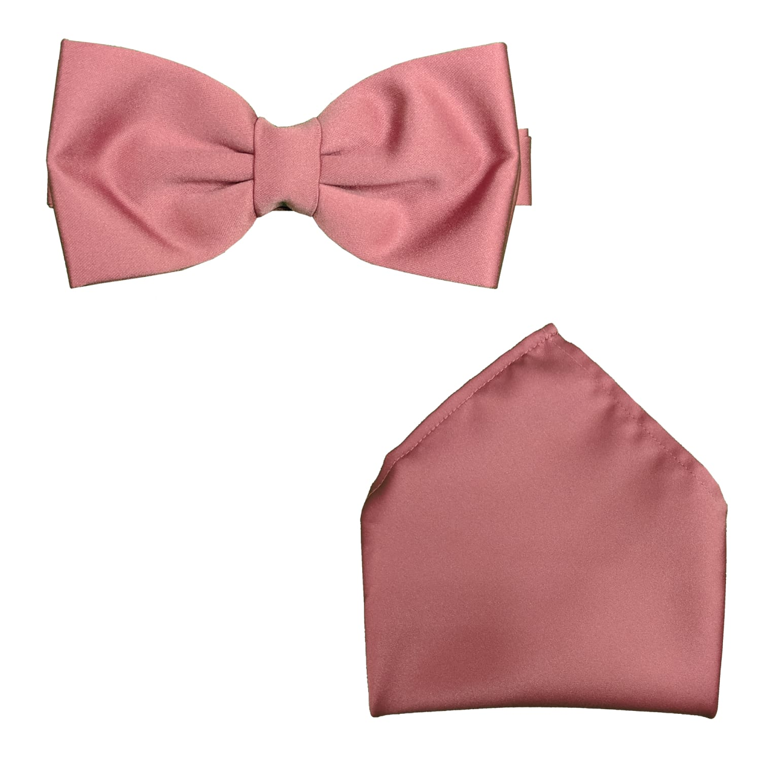 Folkespeare Bow Tie & Pocket Square Set - BK0030 - Dusty Pink 1