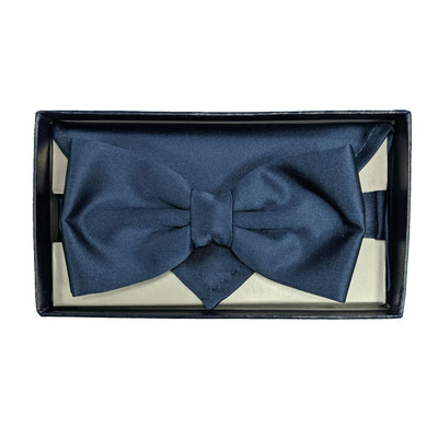 Folkespeare Bow Tie & Pocket Square Set - BK0030 - French Navy 5