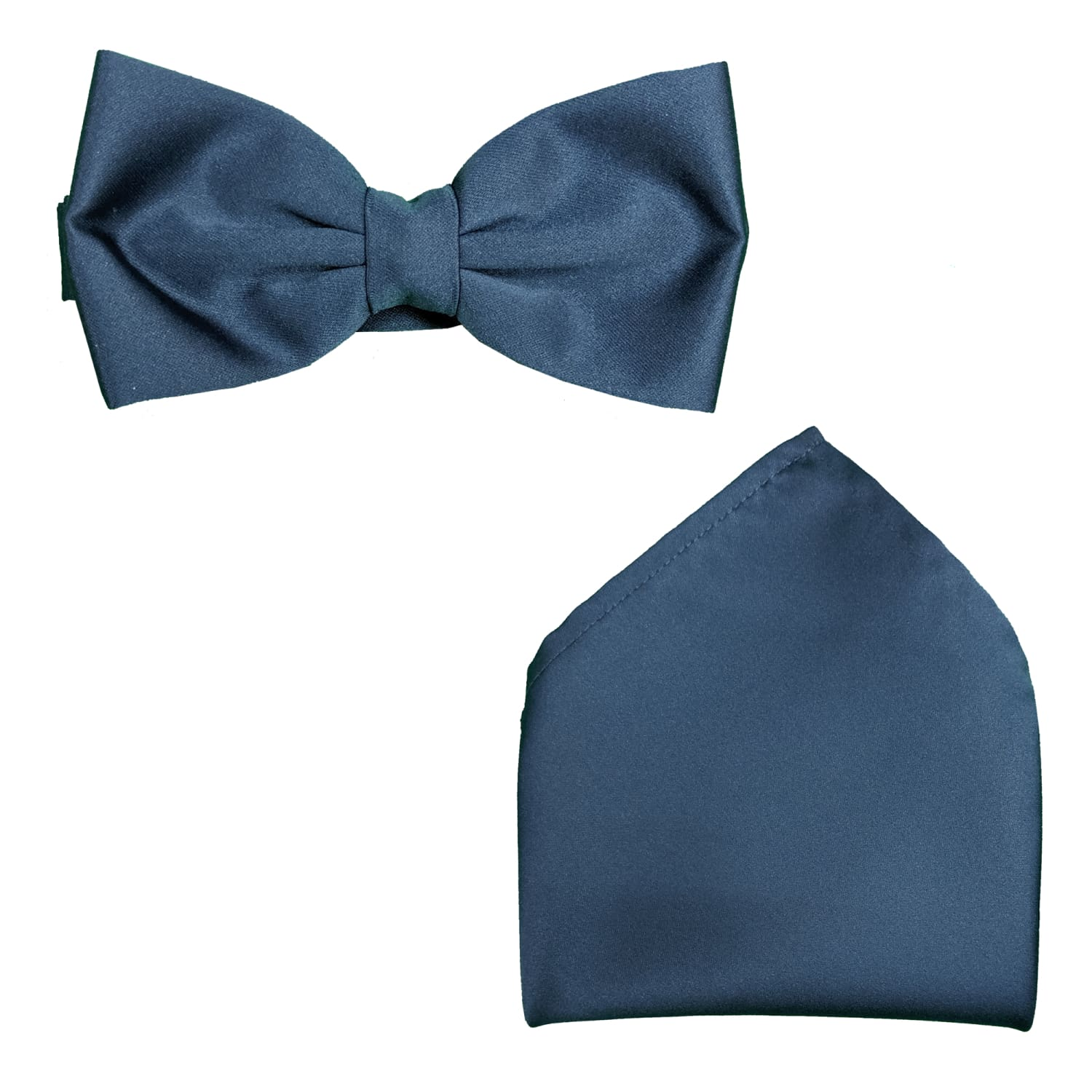 Folkespeare Bow Tie & Pocket Square Set - BK0030 - French Navy 1