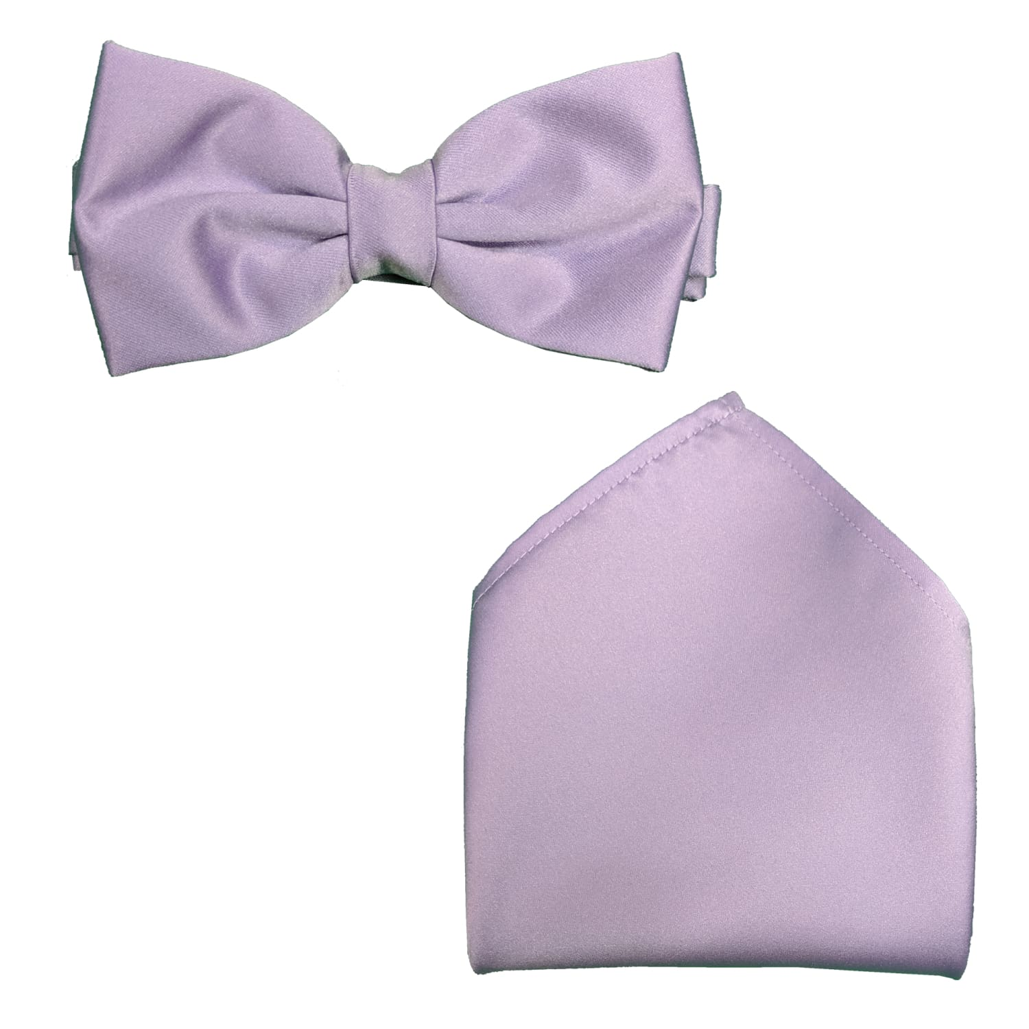 Folkespeare Bow Tie & Pocket Square Set - BK0030 - Lilac 1