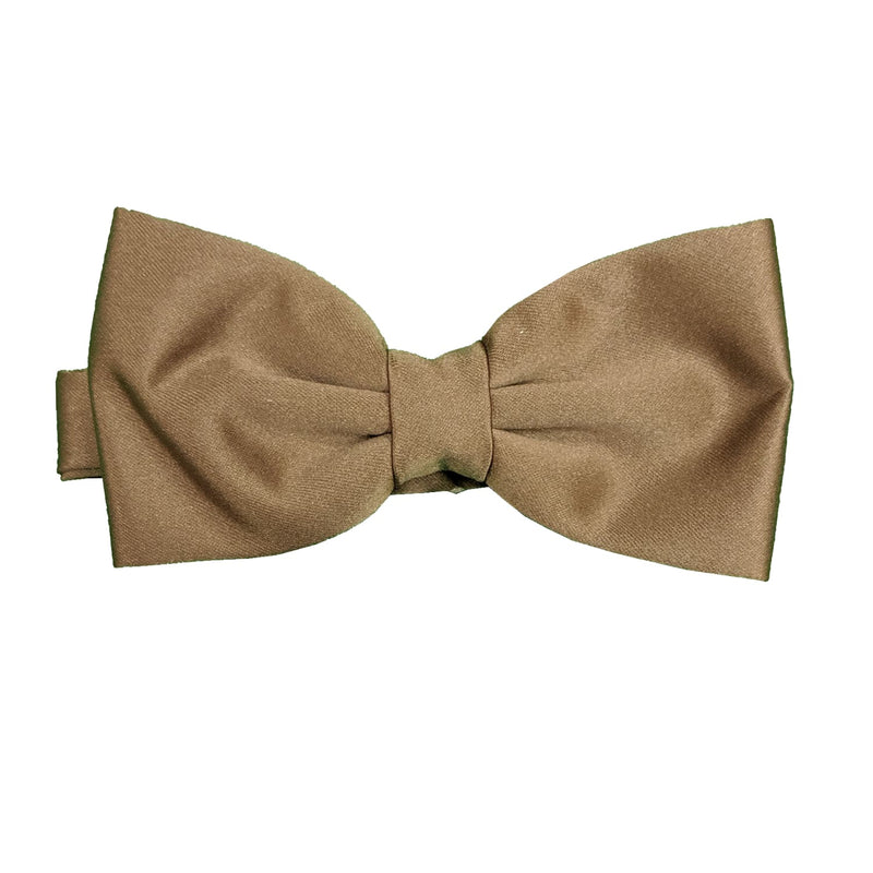 Folkespeare Bow Tie & Pocket Square Set - BK0030 - Mid Brown 1