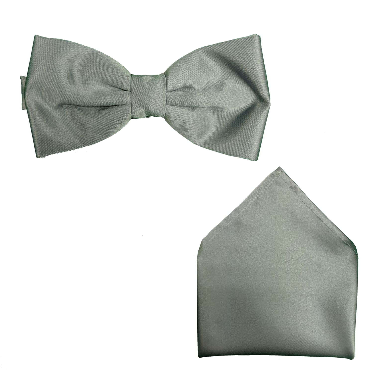 Folkespeare Bow Tie & Pocket Square Set - BK0030 - Silver Grey 1