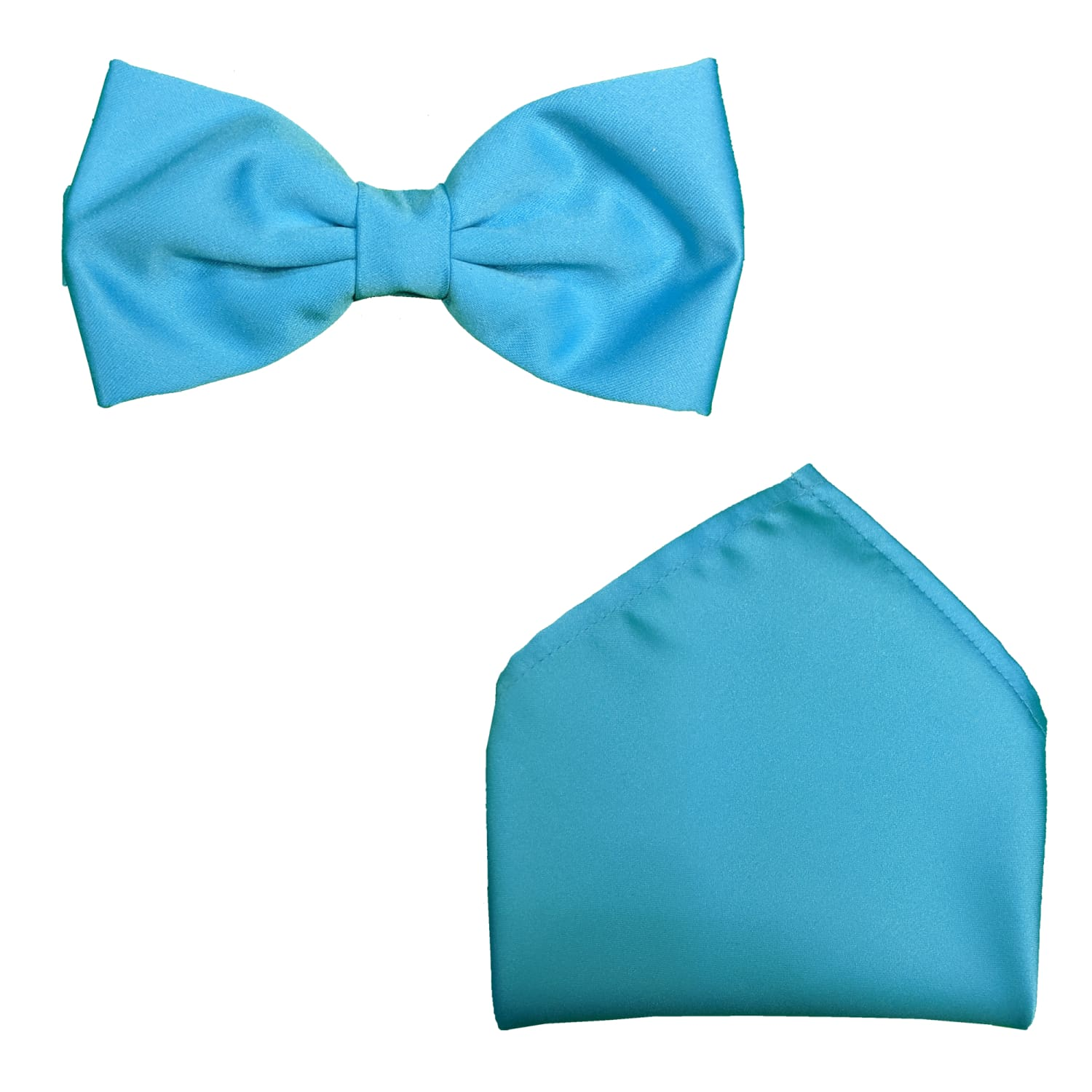 Folkespeare Bow Tie & Pocket Square Set - BK0030 - Turquoise 1