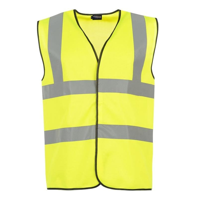 Force Nine Hi-Vis Vest - 25900 - Yellow 1