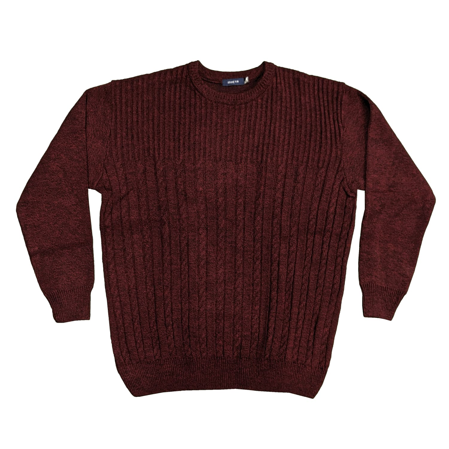 Invicta Cable Pullover - 02467 - Wine 1