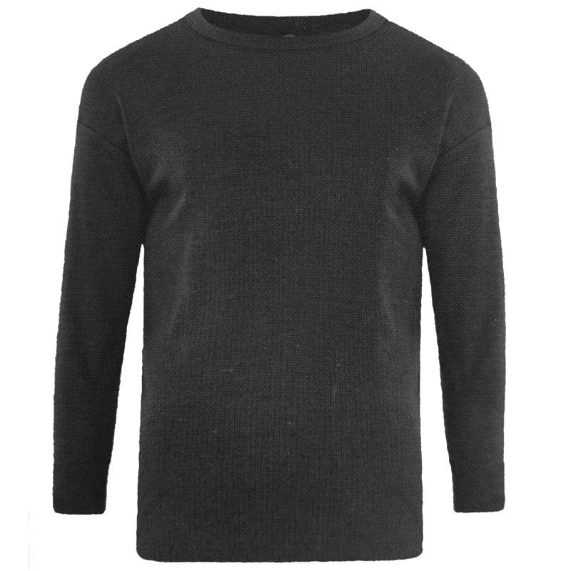 Kam Thermal Long Sleeve T-Shirt - KBS832 - Charcoal 1