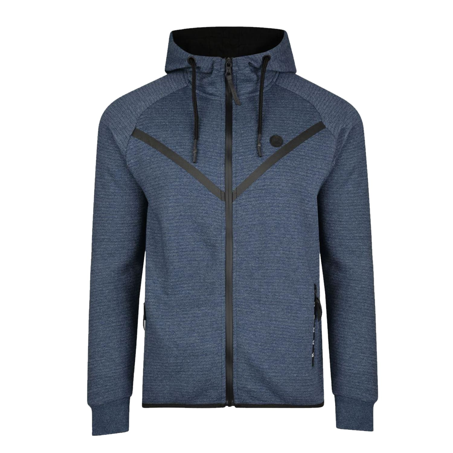 Kangol Full Zip Hoody - Cullen - Navy Stripped Marl 1