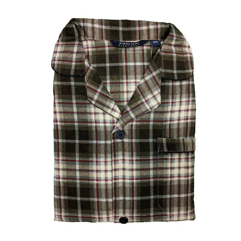 Kings Club PJs (Shirt & Trousers) - 08360 - Charcoal & Red 1