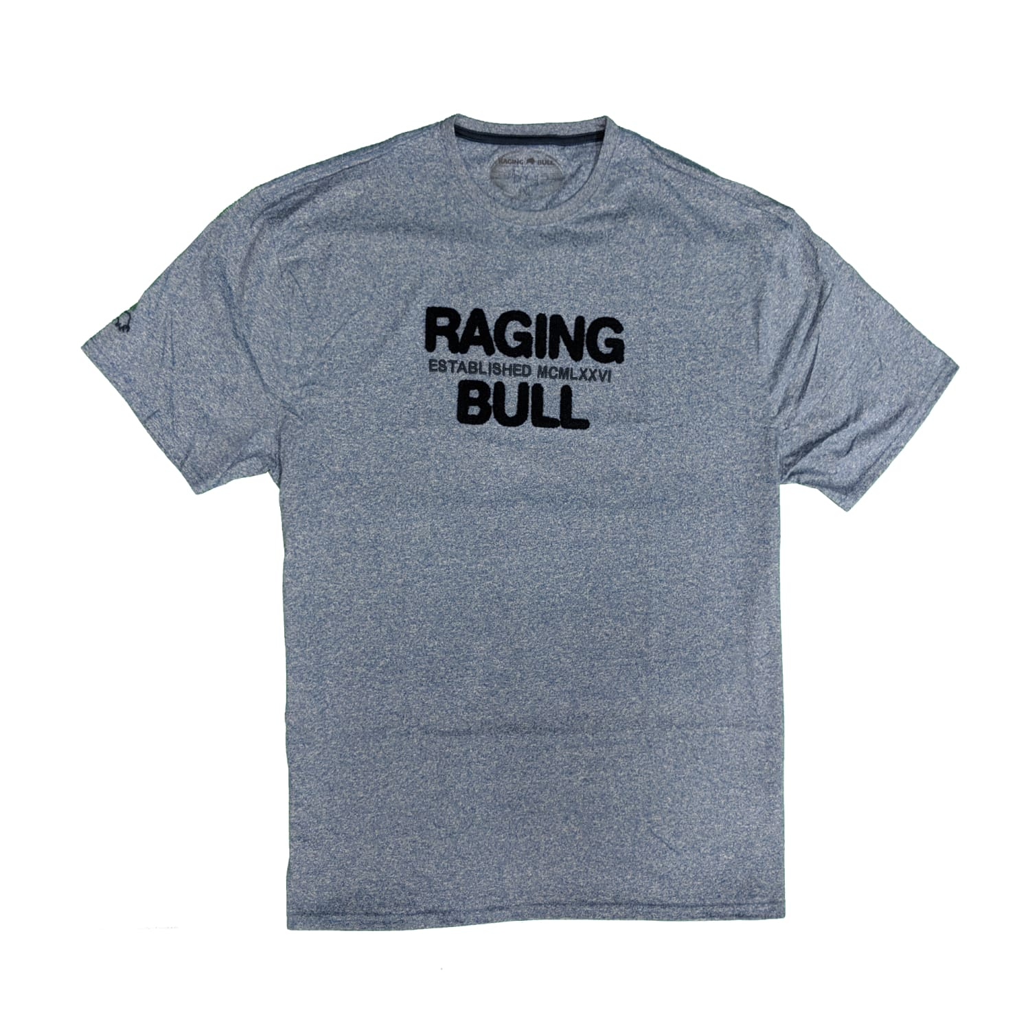 Raging Bull Boucle RB Tee - S19TS102 - Mid Blue 1