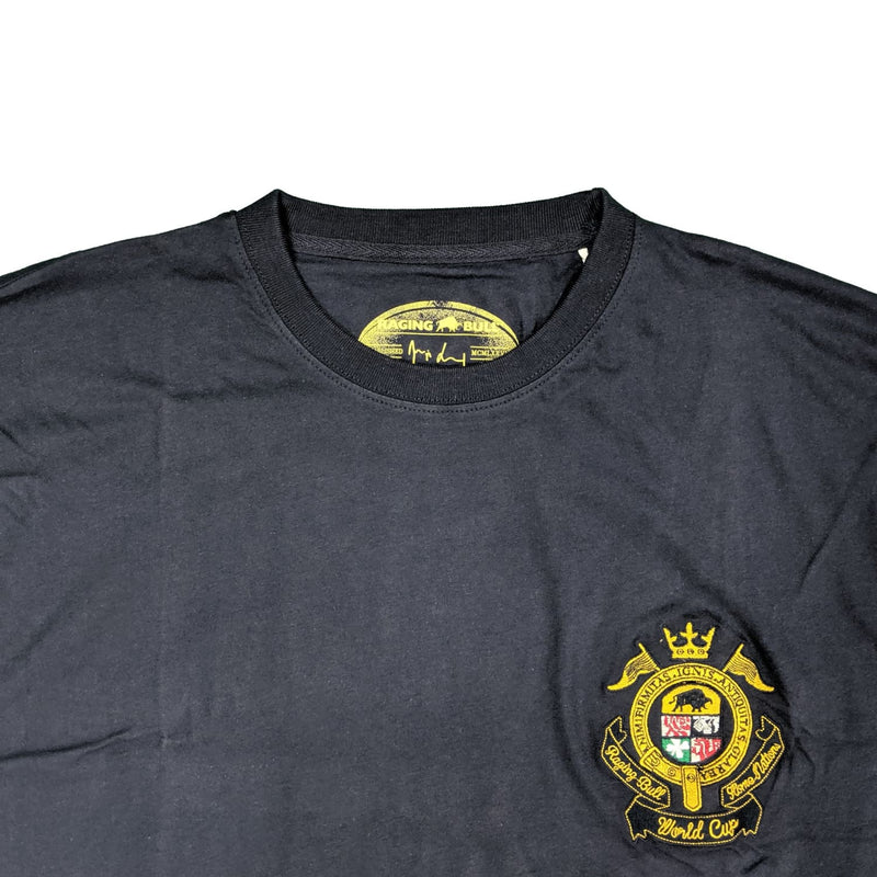 Raging Bull Embroided Crest T-Shirt - 1510109 - Navy 1