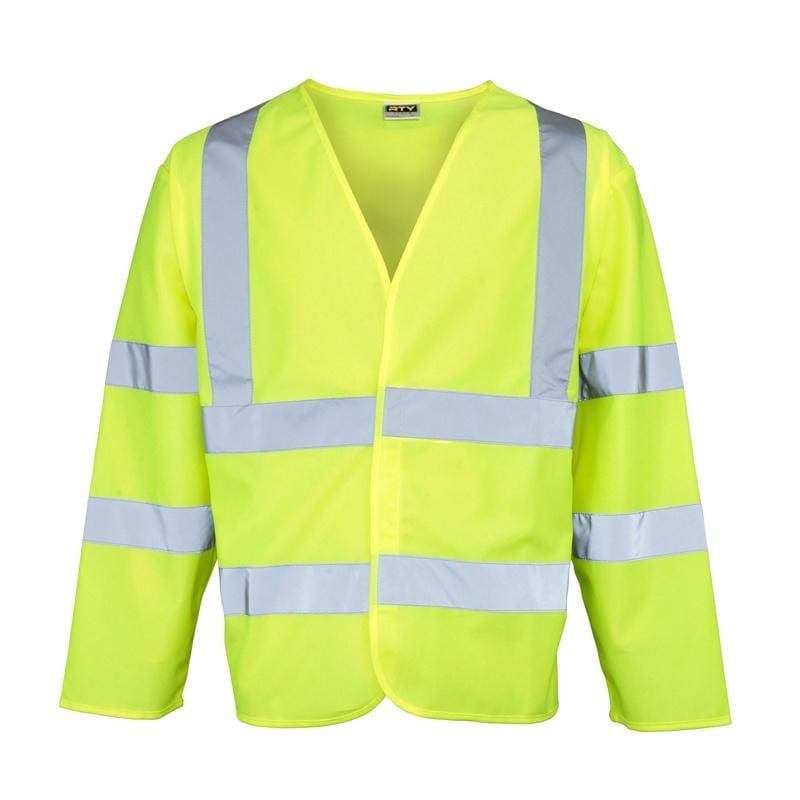 RTY Long Sleeve Hi-Vis Vest - HV075 - Yellow 1
